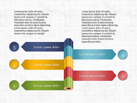 Pencil and Options Slide Deck, Slide 5, 03940, Stage Diagrams — PoweredTemplate.com