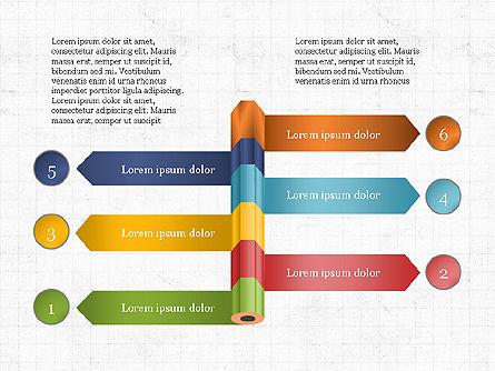 Pencil and Options Slide Deck, Slide 6, 03940, Stage Diagrams — PoweredTemplate.com