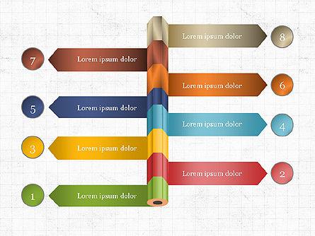 Pencil and Options Slide Deck, Slide 8, 03940, Stage Diagrams — PoweredTemplate.com
