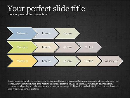 Flow Process Flat Design Diagrams, Slide 12, 03941, Process Diagrams — PoweredTemplate.com
