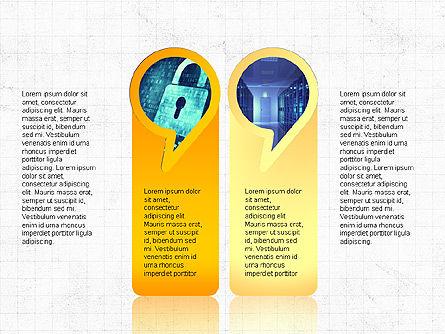 Speech Bubble Themed Presentation Deck, Slide 2, 03943, Business Models — PoweredTemplate.com
