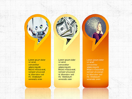 Speech Bubble Themed Presentation Deck, Slide 3, 03943, Business Models — PoweredTemplate.com