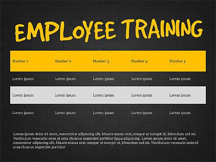 Employee Training Process Diagram, Slide 12, 03945, Business Models — PoweredTemplate.com