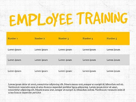Employee Training Process Diagram, Slide 4, 03945, Business Models — PoweredTemplate.com