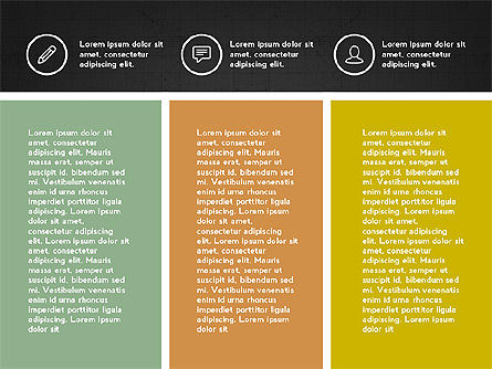 Trendy Presentation with Thin Icons, Slide 13, 03947, Presentation Templates — PoweredTemplate.com