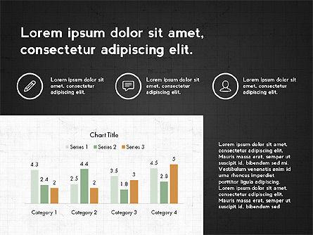 Trendy Presentation with Thin Icons, Slide 14, 03947, Presentation Templates — PoweredTemplate.com