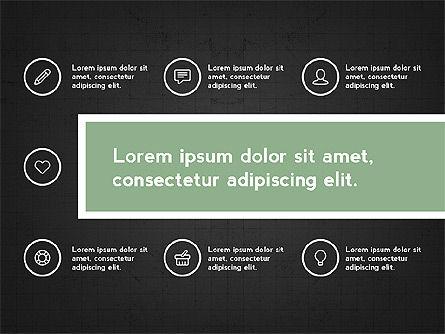 Trendy Presentation with Thin Icons, Slide 15, 03947, Presentation Templates — PoweredTemplate.com