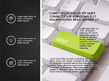 Trendy Presentation with Thin Icons, Slide 16, 03947, Presentation Templates — PoweredTemplate.com