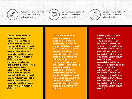Trendy Presentation with Thin Icons, Slide 5, 03947, Presentation Templates — PoweredTemplate.com