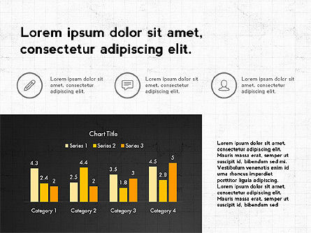 Trendy Presentation with Thin Icons, Slide 6, 03947, Presentation Templates — PoweredTemplate.com