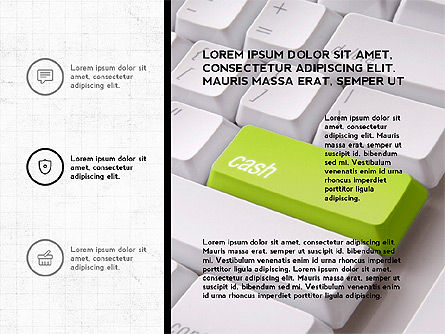 Trendy Presentation with Thin Icons, Slide 8, 03947, Presentation Templates — PoweredTemplate.com