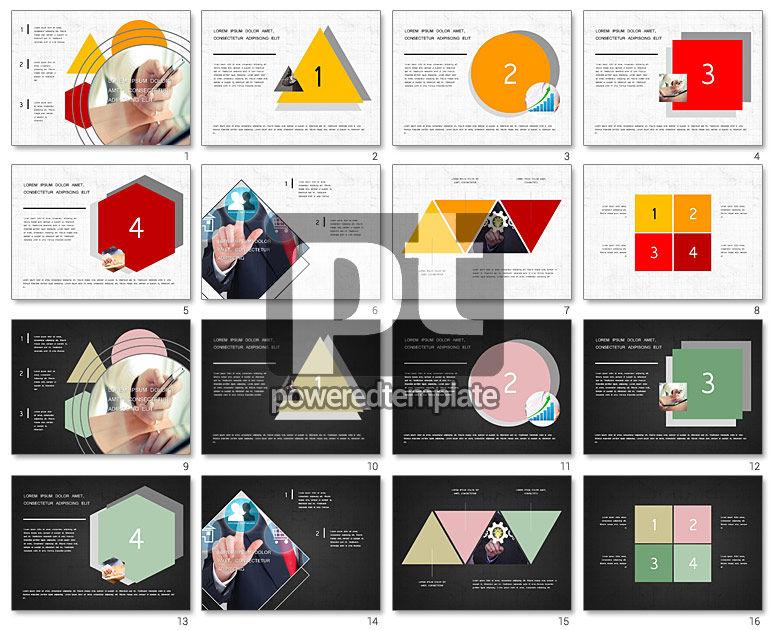 Four Steps Presentation Concept
