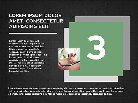 Four Steps Presentation Concept, Slide 12, 03948, Stage Diagrams — PoweredTemplate.com
