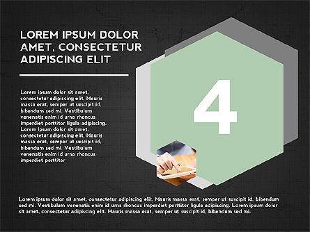 Four Steps Presentation Concept, Slide 13, 03948, Stage Diagrams — PoweredTemplate.com