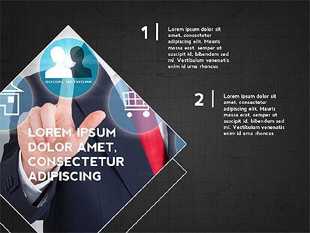 Four Steps Presentation Concept, Slide 14, 03948, Stage Diagrams — PoweredTemplate.com