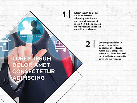 Four Steps Presentation Concept, Slide 6, 03948, Stage Diagrams — PoweredTemplate.com