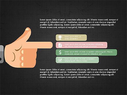 Flat Design Presentation Concept with Hands, Slide 10, 03952, Presentation Templates — PoweredTemplate.com