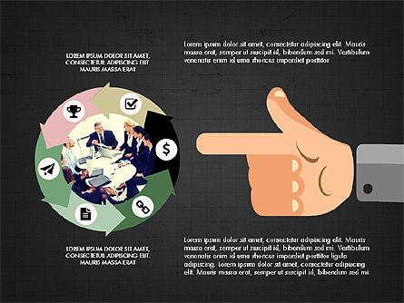 Flat Design Presentation Concept with Hands, Slide 11, 03952, Presentation Templates — PoweredTemplate.com