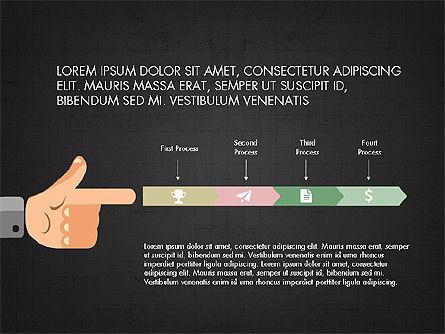 Flat Design Presentation Concept with Hands, Slide 12, 03952, Presentation Templates — PoweredTemplate.com