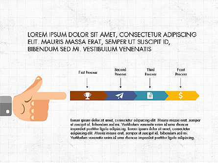 Flat Design Presentation Concept with Hands, Slide 4, 03952, Presentation Templates — PoweredTemplate.com