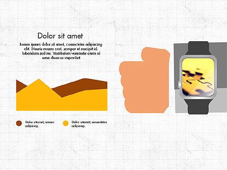 Flat Design Presentation Concept with Hands, Slide 8, 03952, Presentation Templates — PoweredTemplate.com