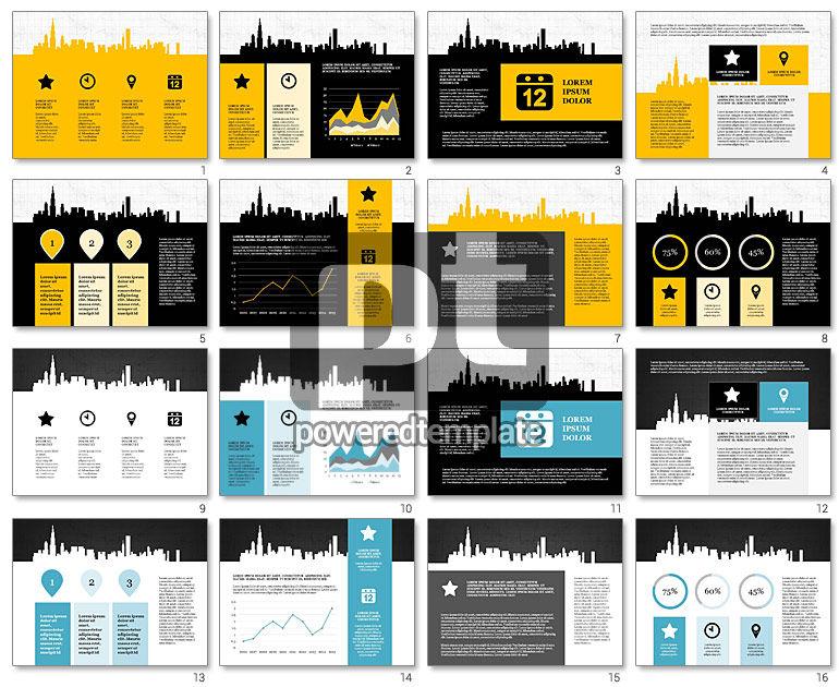 Cityscape Silhouette Presentation Concept