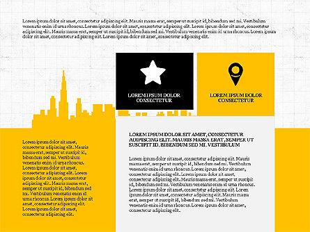 Cityscape Silhouette Presentation Concept, Slide 4, 03960, Presentation Templates — PoweredTemplate.com