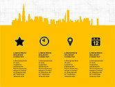 Presentation Templates: Paisaje urbano silueta presentación concepto #03960