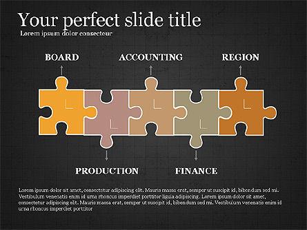 Company Organizational Chart, Slide 10, 03961, Organizational Charts — PoweredTemplate.com