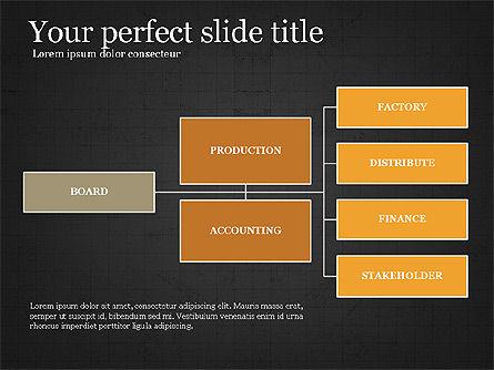 Company Organizational Chart, Slide 11, 03961, Organizational Charts — PoweredTemplate.com