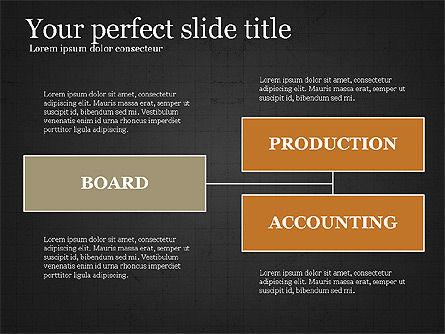Company Organizational Chart, Slide 14, 03961, Organizational Charts — PoweredTemplate.com