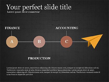 Company Organizational Chart, Slide 16, 03961, Organizational Charts — PoweredTemplate.com