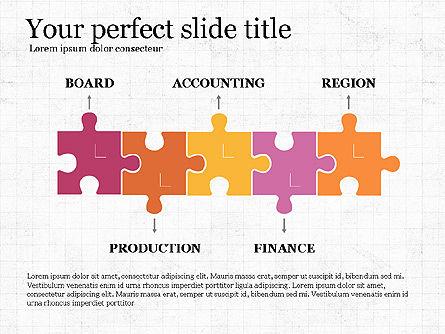 Company Organizational Chart, Slide 2, 03961, Organizational Charts — PoweredTemplate.com