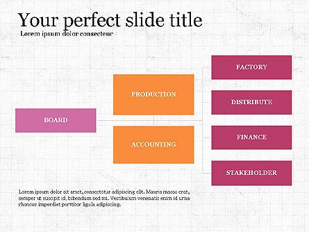 Company Organizational Chart, Slide 3, 03961, Organizational Charts — PoweredTemplate.com