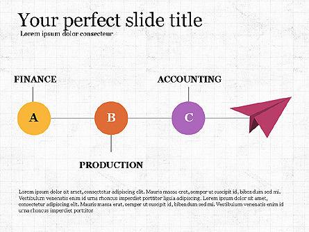 Company Organizational Chart, Slide 8, 03961, Organizational Charts — PoweredTemplate.com