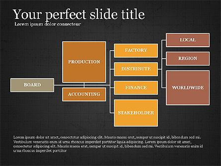 Company Organizational Chart, Slide 9, 03961, Organizational Charts — PoweredTemplate.com