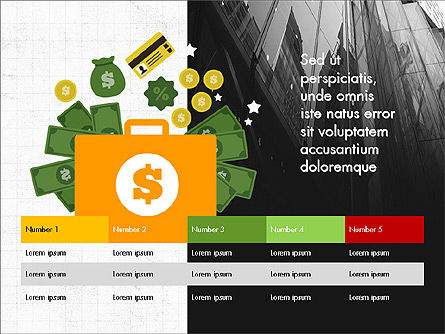 Financial Result Presentation Concept, 03964, Presentation Templates — PoweredTemplate.com