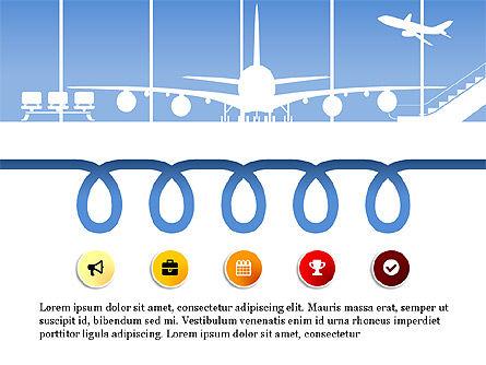Roadmap with Airport Silhouette Slide Deck, Slide 10, 03965, Business Models — PoweredTemplate.com