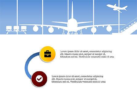Roadmap with Airport Silhouette Slide Deck, Slide 12, 03965, Business Models — PoweredTemplate.com