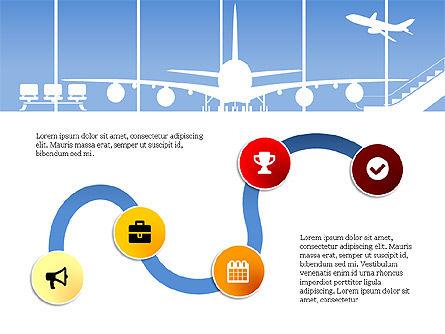 Roadmap with Airport Silhouette Slide Deck, Slide 13, 03965, Business Models — PoweredTemplate.com