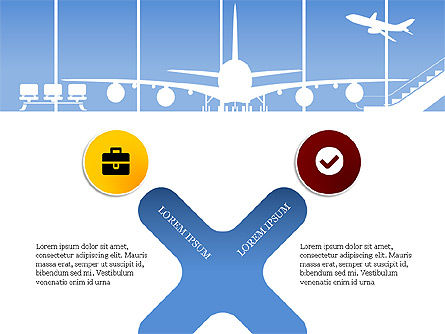 Roadmap with Airport Silhouette Slide Deck, Slide 14, 03965, Business Models — PoweredTemplate.com