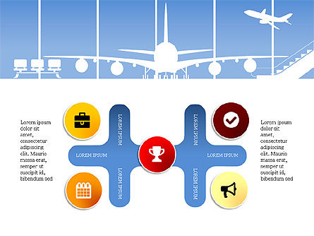 Roadmap with Airport Silhouette Slide Deck, Slide 16, 03965, Business Models — PoweredTemplate.com