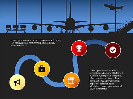 Roadmap with Airport Silhouette Slide Deck, Slide 5, 03965, Business Models — PoweredTemplate.com