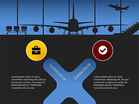 Roadmap with Airport Silhouette Slide Deck, Slide 6, 03965, Business Models — PoweredTemplate.com