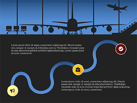 Roadmap with Airport Silhouette Slide Deck, Slide 7, 03965, Business Models — PoweredTemplate.com