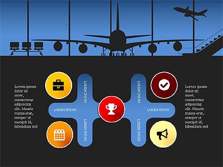 Roadmap with Airport Silhouette Slide Deck, Slide 8, 03965, Business Models — PoweredTemplate.com