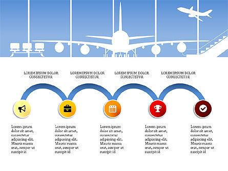 Roadmap with Airport Silhouette Slide Deck, Slide 9, 03965, Business Models — PoweredTemplate.com