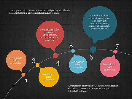 Bubble Timeline Slide Deck, Slide 11, 03969, Timelines & Calendars — PoweredTemplate.com