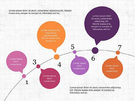 Bubble Timeline Slide Deck, Slide 3, 03969, Timelines & Calendars — PoweredTemplate.com
