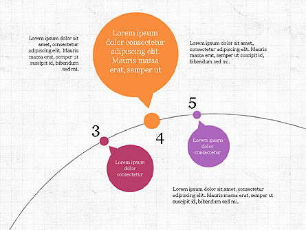 Bubble Timeline Slide Deck, Slide 6, 03969, Timelines & Calendars — PoweredTemplate.com